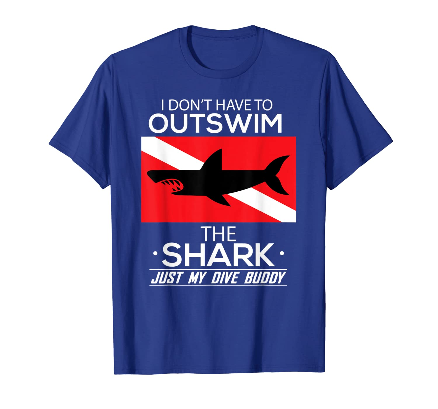 Out Swim My Dive Buddy Funny Shark Scuba Diving T-Shirt Unisex Tshirt
