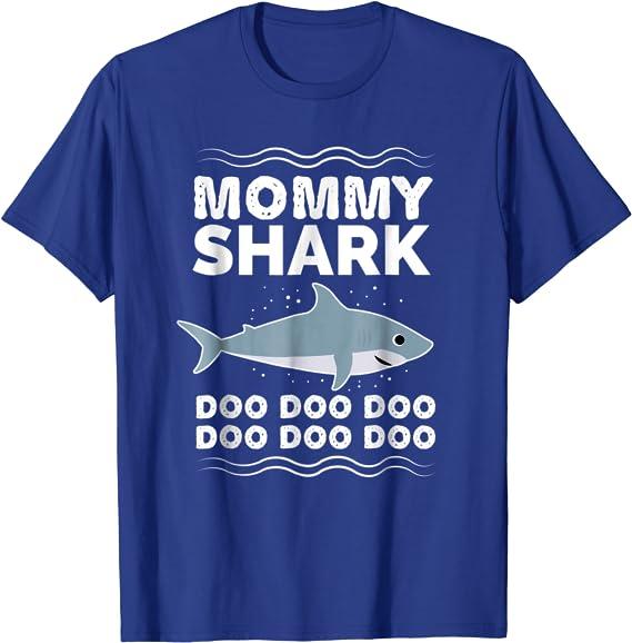 Mommy Shark Challenge Doo Doo Doo Slouchy Off Shoulder Oversized Sweatshirt