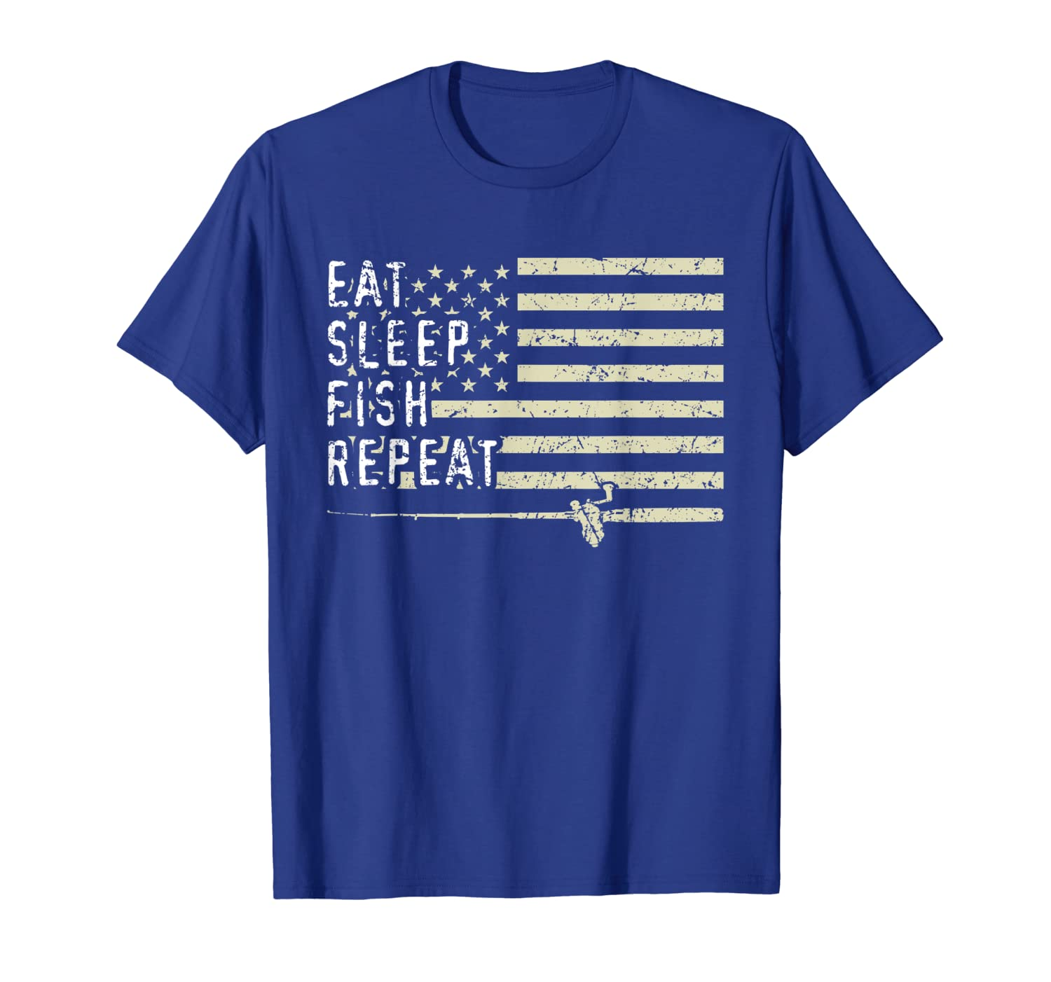 Eat Sleep Fish Repeat Funny Bass Fishing Fathers Day Gifts T-Shirt SweatShirt