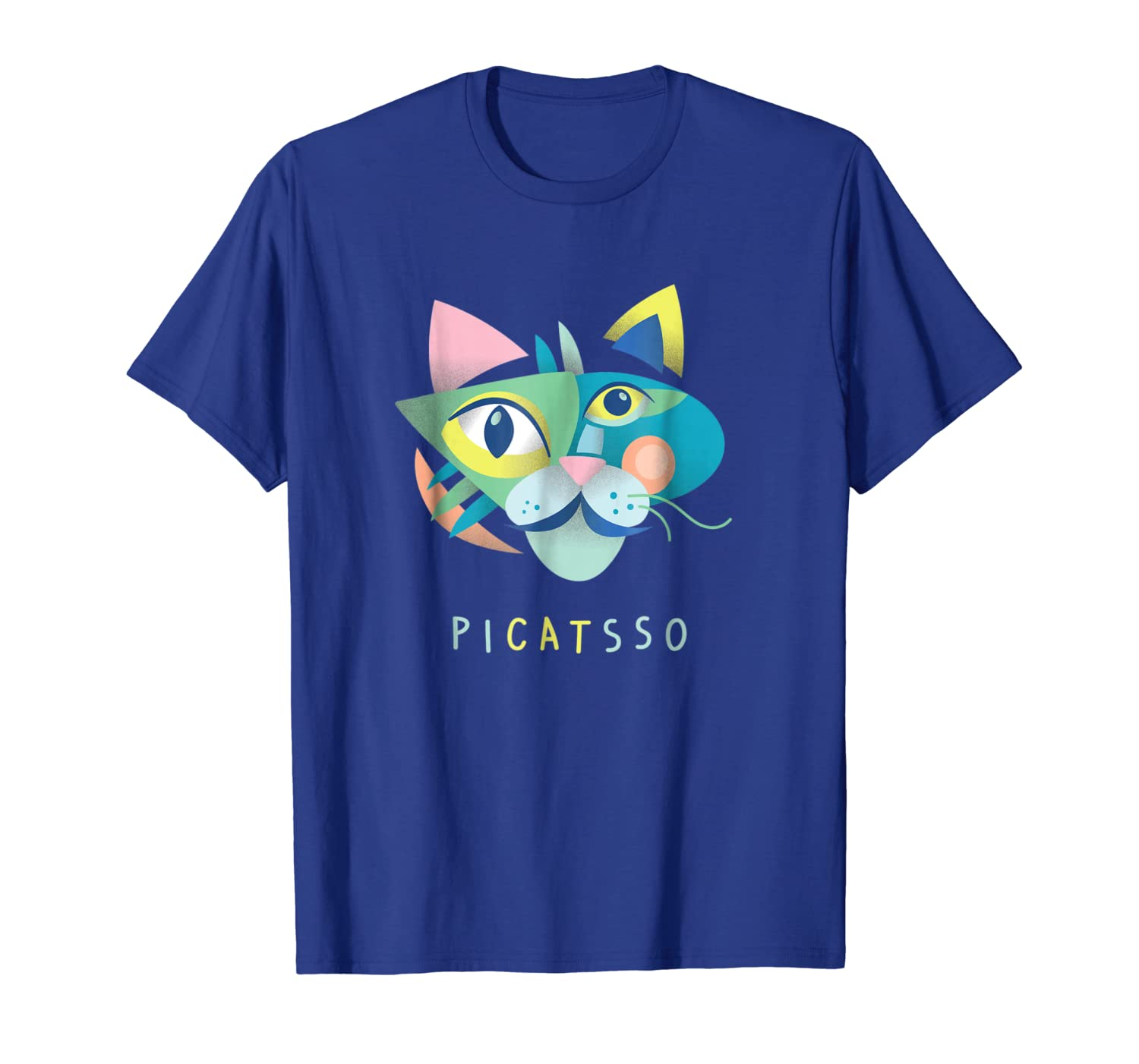 Artist & Art Teacher Shirt: Picatsso, Funny Abstract Cat Art-TH
