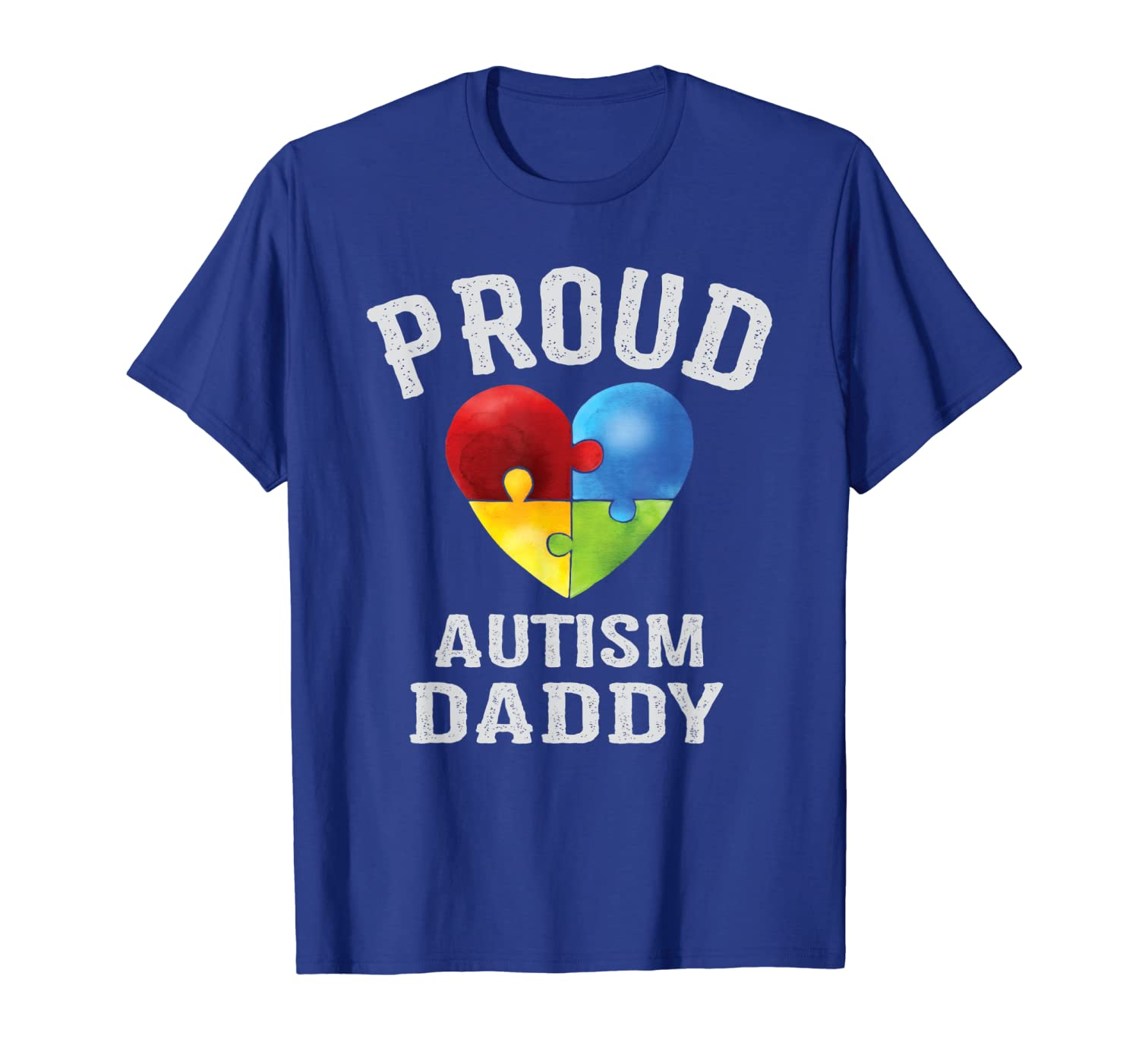 Mens Proud Autism Daddy Autism Awareness Gifts For Dad Papa T-Shirt Unisex Tshirt