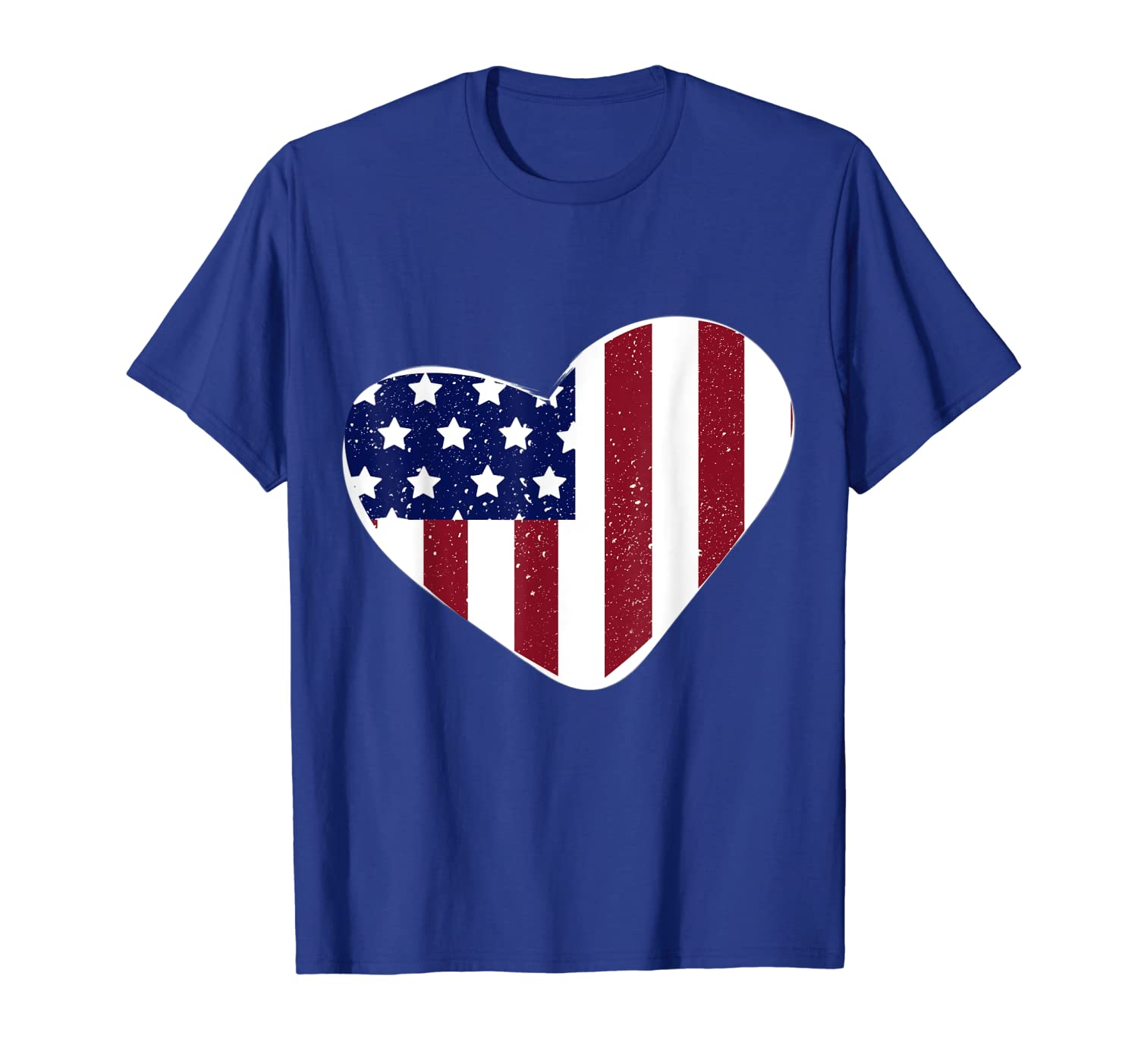 USA Flag Heart 4th of July Outfit Women Clothes Kids Gift T-Shirt-ANZ