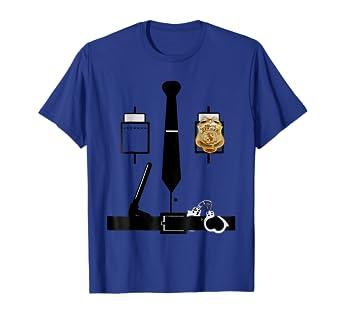 Amazon.com: Disfraz de policía T Shirt | Funny Halloween ...