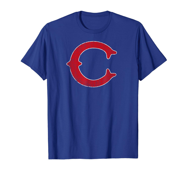 Chicago Baseball | Letter C Vintage Baseball Gift T-Shirt