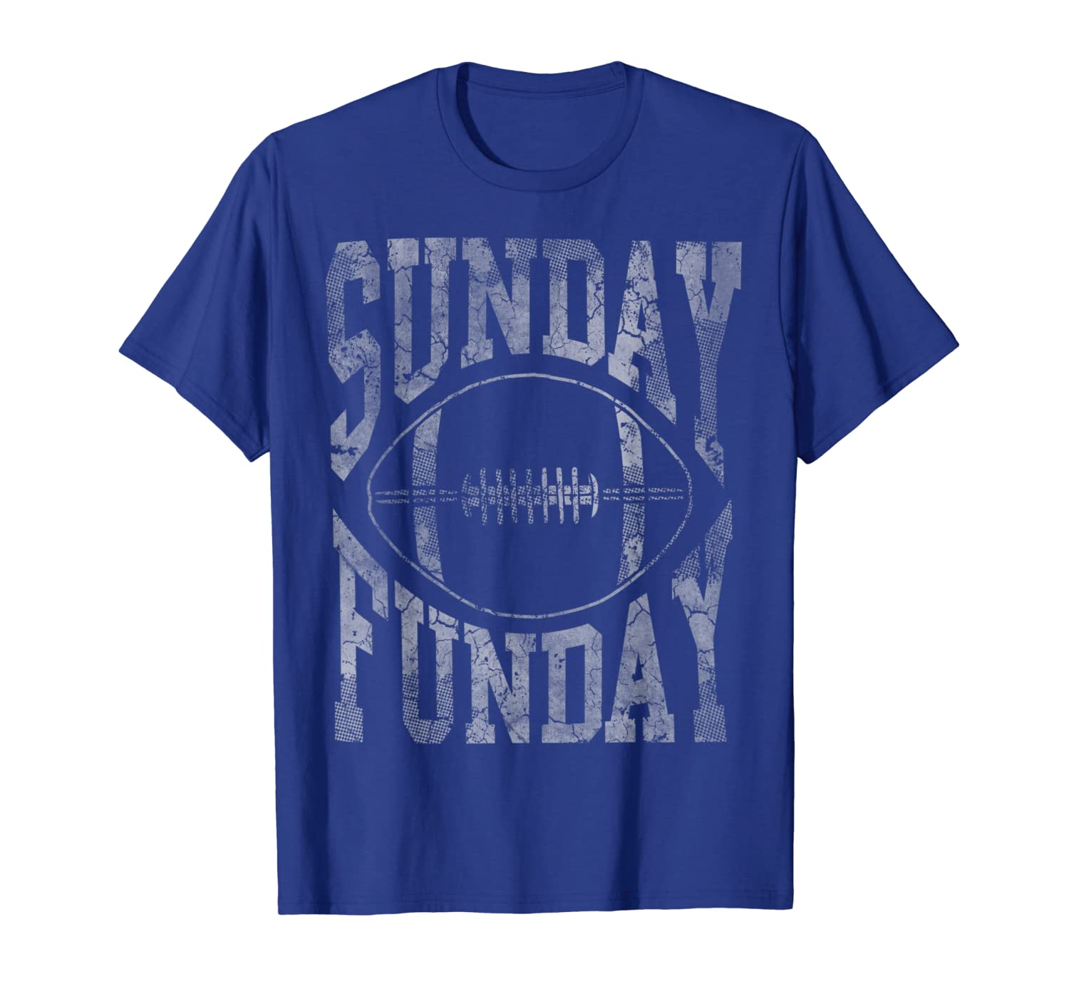 Vintage Sunday Funday Football Mens Womens Kids T-Shirt-TH