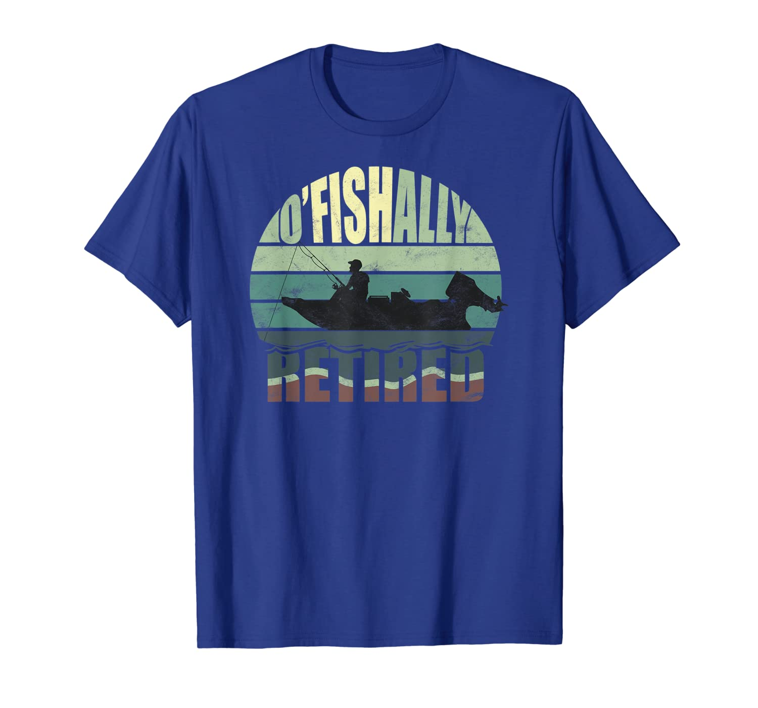 OFiCIALLY RETIRED Funny Fishing Gift for Retirement T-Shirt Unisex Tshirt