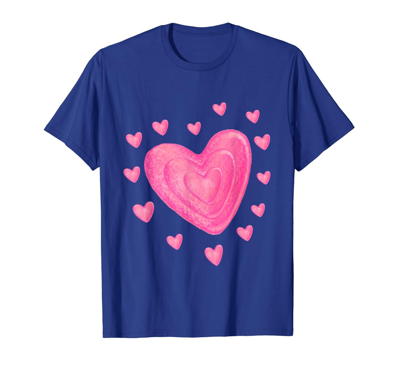 Hearts T Shirt Kids School TShirt Valentines Day Girls Boys T-Shirt