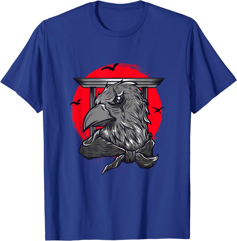 Dark Art Red Moon Norse Viking Raven Gothic Black Crow T-Shirt-TH