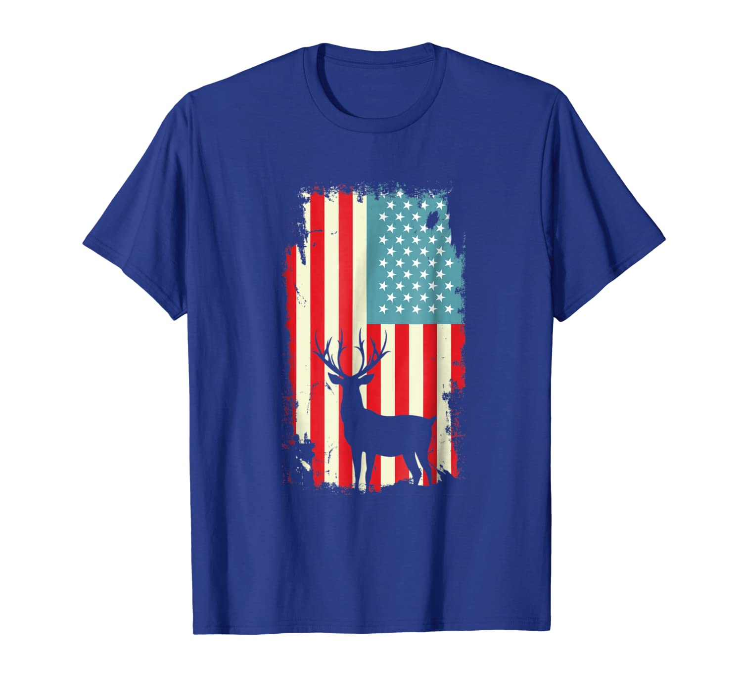 American Deer Hunter Patriotic T Shirt For men Women Unisex Tshirt