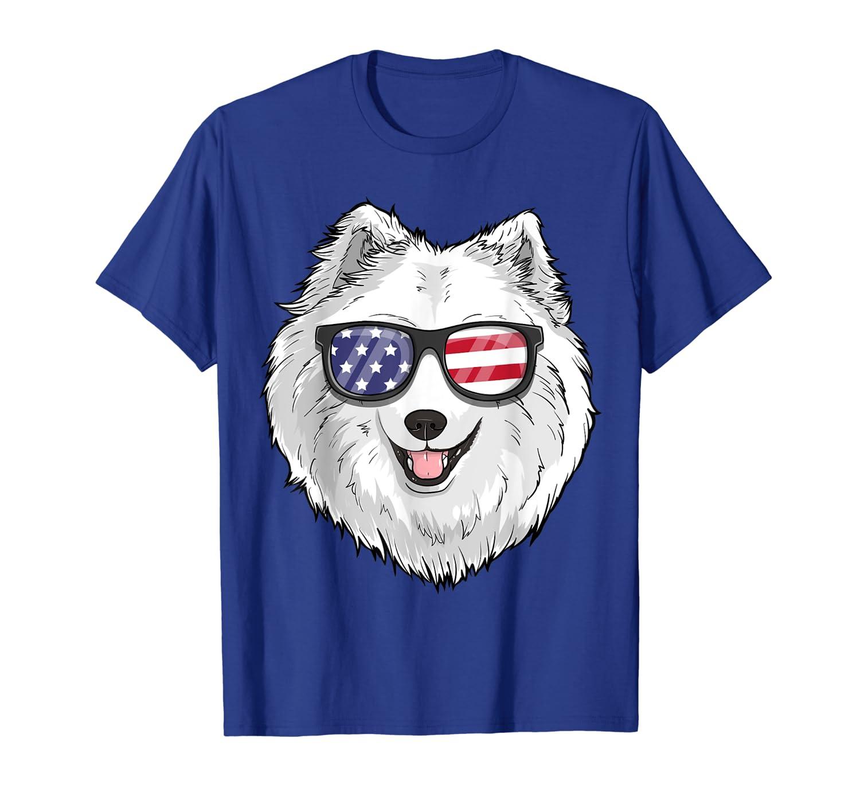 Samoyed Dog Patriotic USA 4th of July American Gift Cute T-Shirt