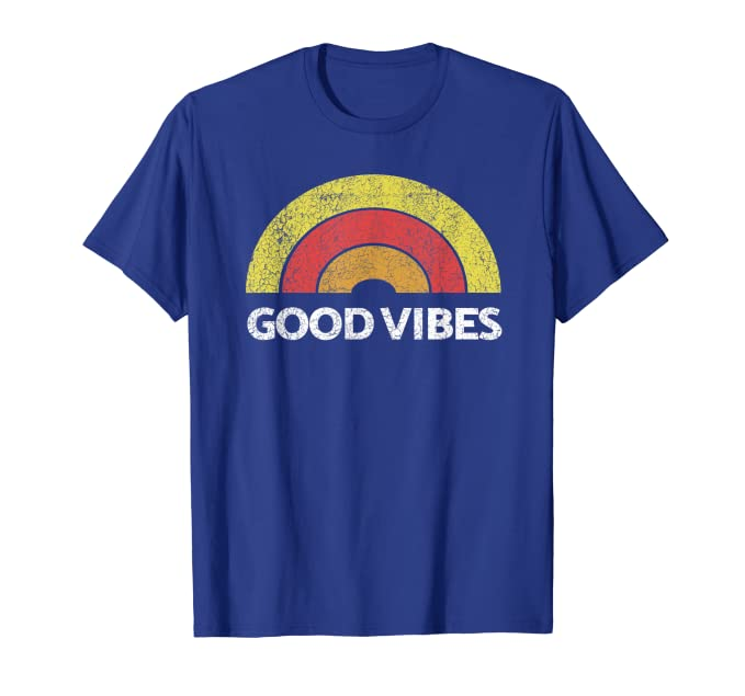 Good Vibes Tribe Vintage Boho Hippie Cute Sun Rainbow TShirt