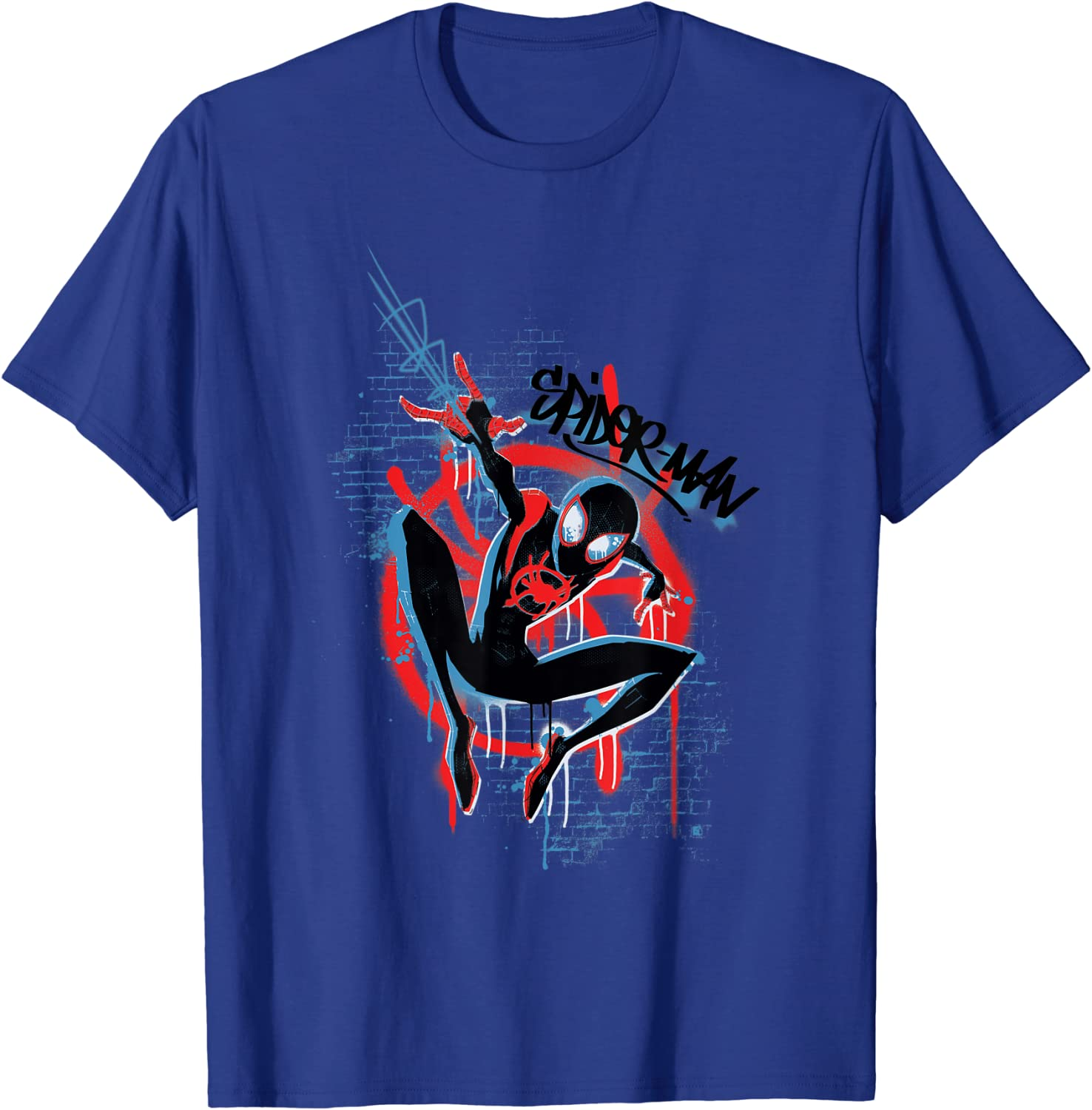 Marvel Men/'s Spider-Man Into The Spider-Verse Four Squares T-Shirt
