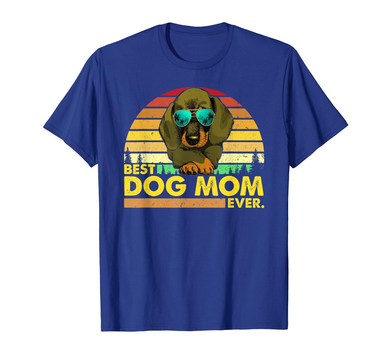Vintage Best Dachshund Mom Ever Dog Mommy Mother T-Shirt Unisex Tshirt