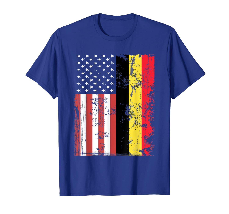 Vintage American Belgium Flag Patriot USA Belgian Tee-TH