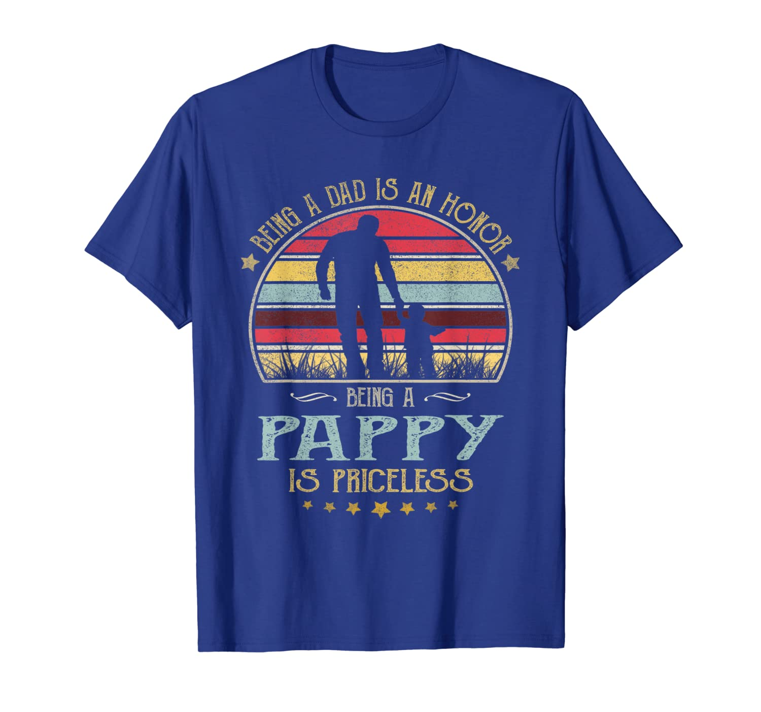 Mens Being A Dad Is An Honor Being A Pappy Is Priceless Shirt-Yolotee