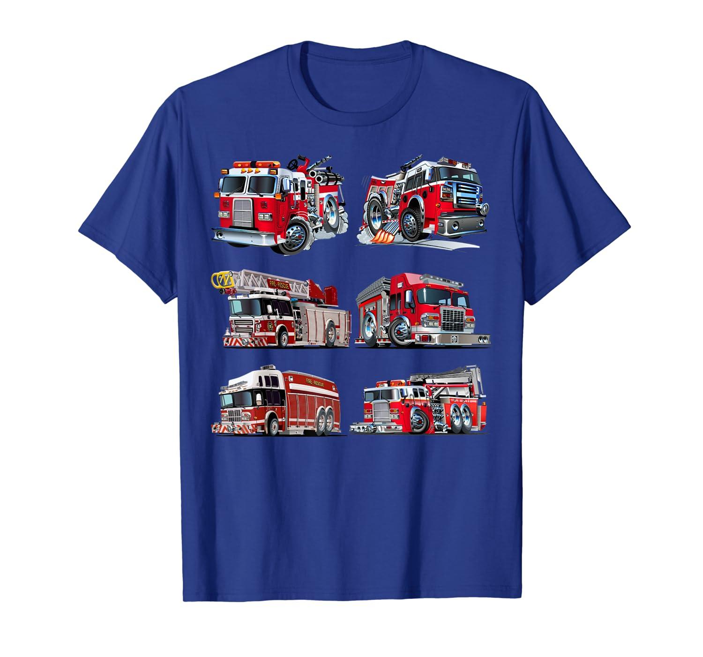 Types of Fire Truck Boy Toddler Kids Firefighter Xmas Gifts T-Shirt-ANZ