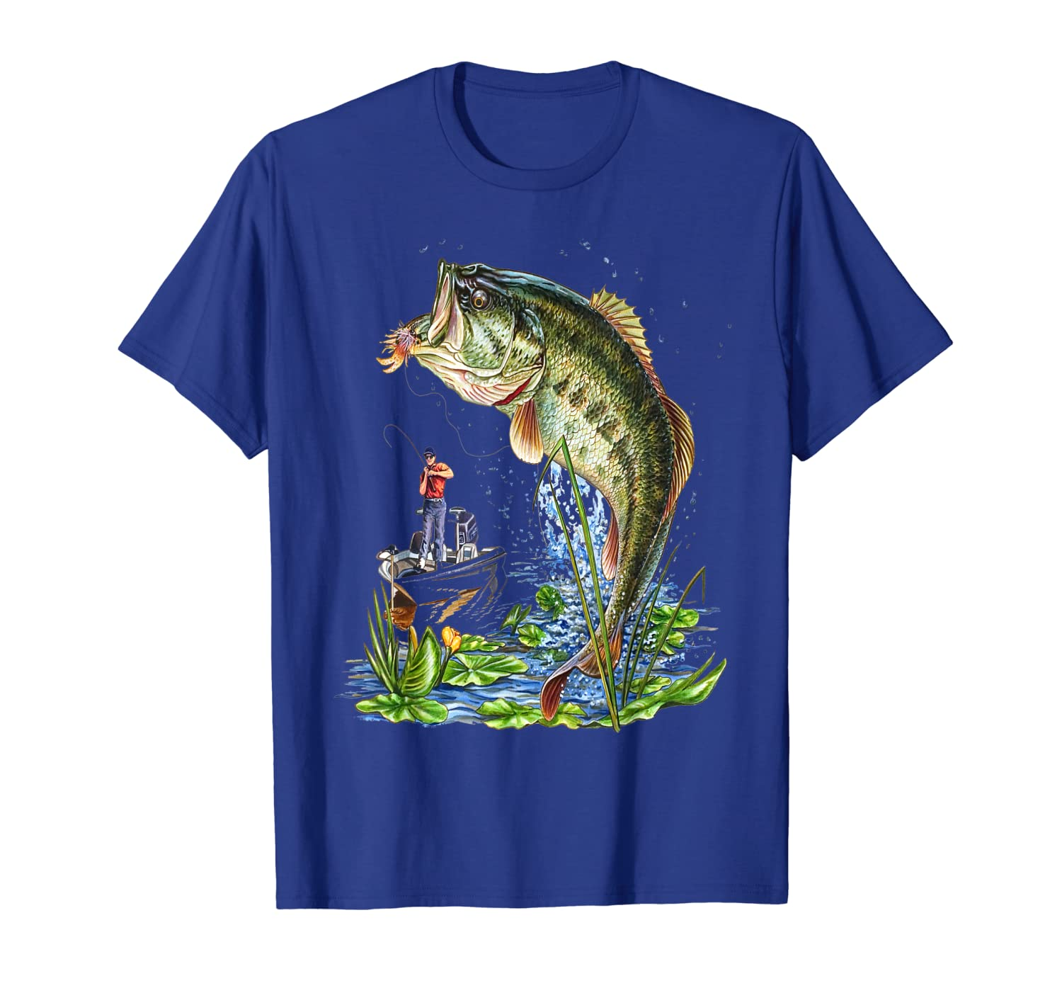 Fishing Graphic T-Shirt Large Mouth Bass Fish Gift T-Shirt Unisex Tshirt