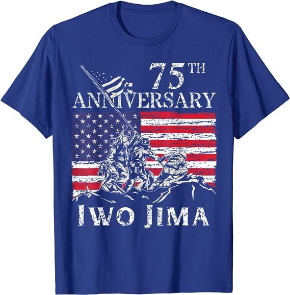 Iwo Jima Constitution American Flag Mens Patriotic Short Or Long Sleeve T Shirt