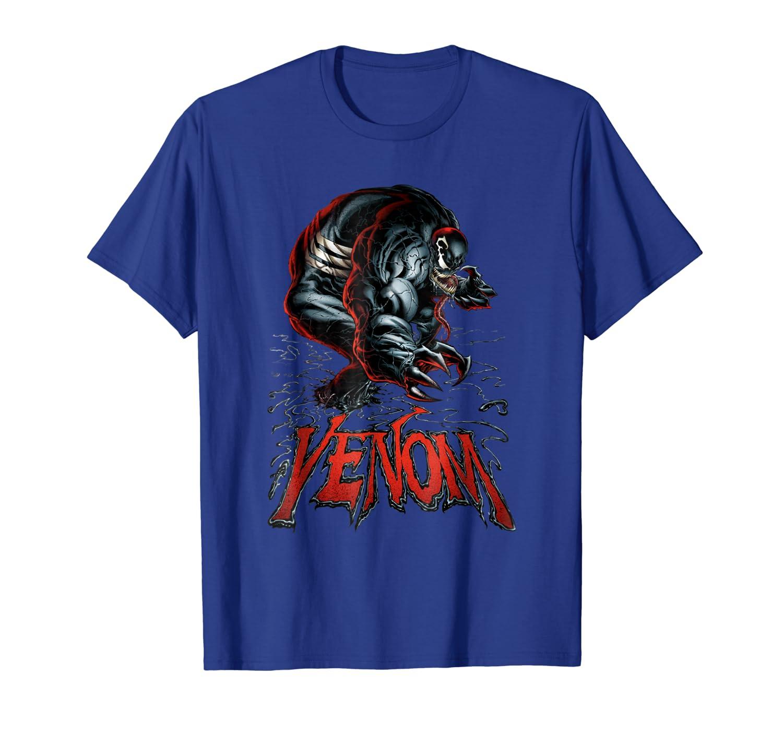 Venom Epic Symbiote Red Logo Character Intro T-Shirt-TH