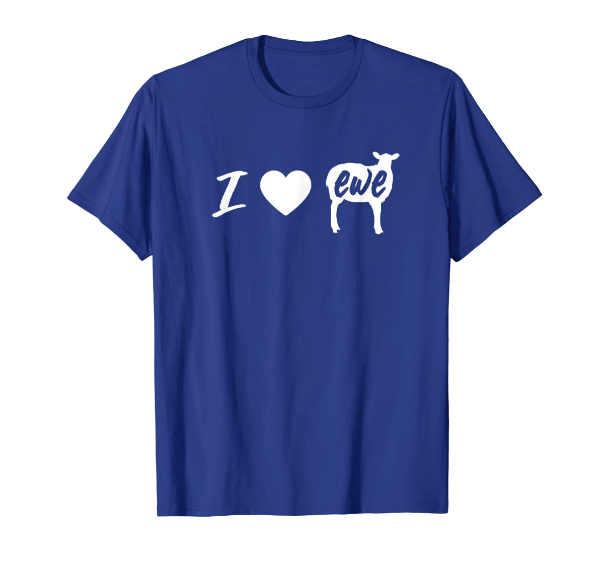 I Love Ewe - I Love You Sheep Pun Shirt-Men's T-Shirt-Royal