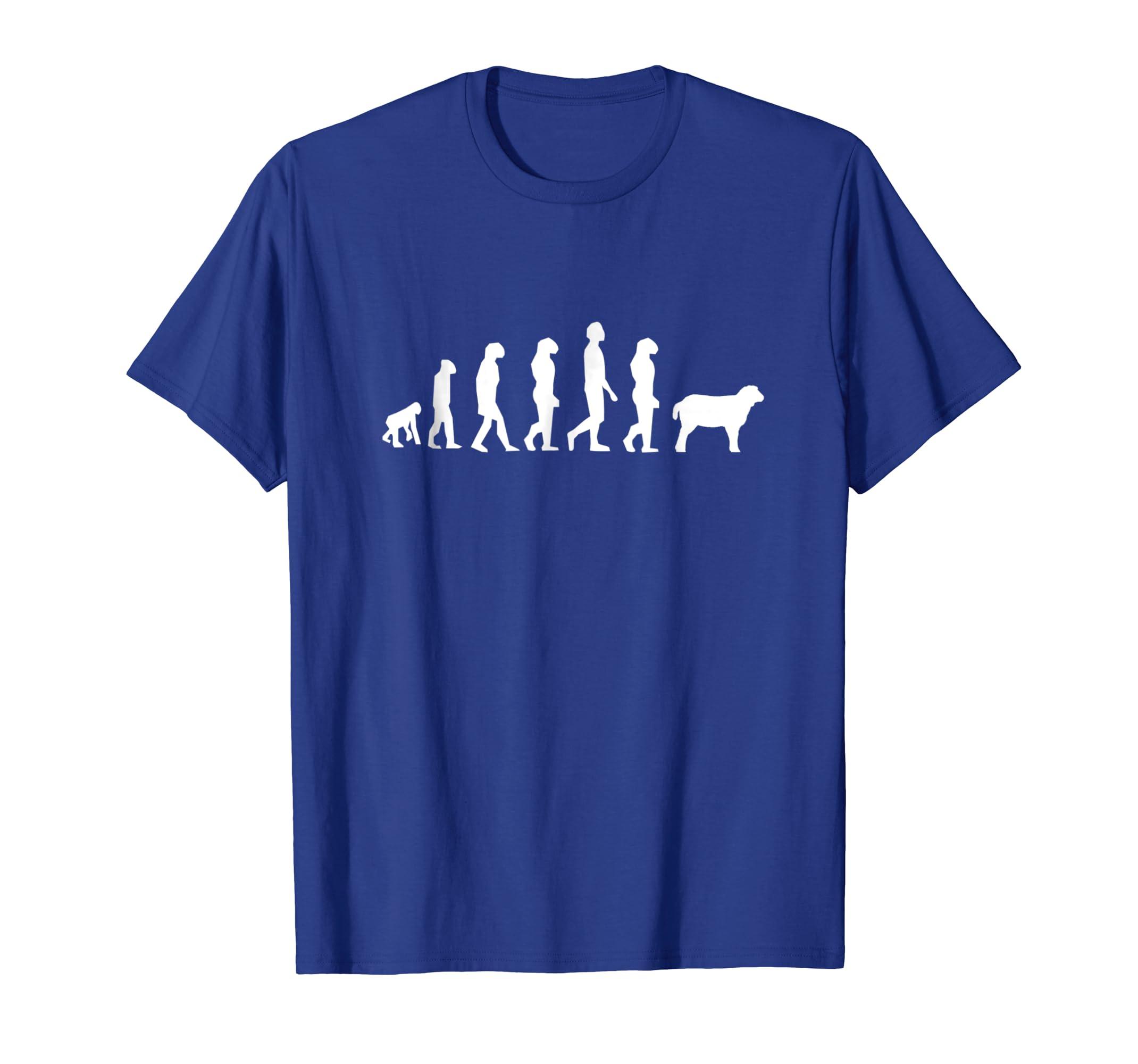 9fe43ed1f Amazon.com: Evolution Of Man Monkey Sheep Funny Political Gift T Shirt:  Clothing