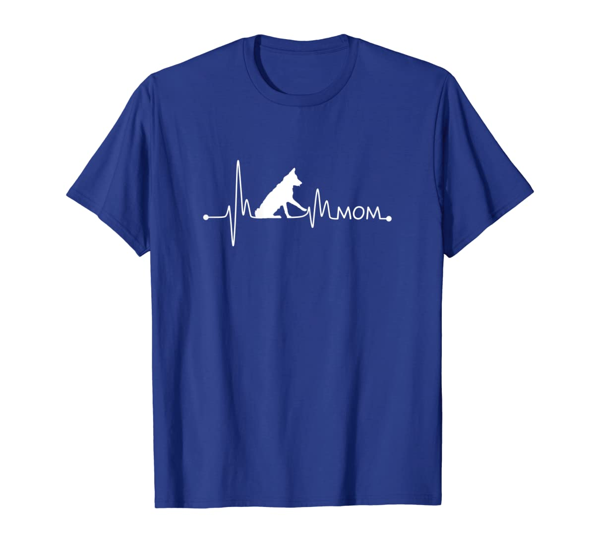 Womens Border Collie Heartbeat Mom Shirt Ekg Pulse Collie Lover Tee-Men's T-Shirt-Royal