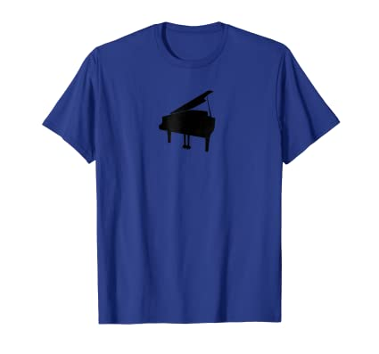 Distressed Grand Piano minimal graphic T Shirt for musicians