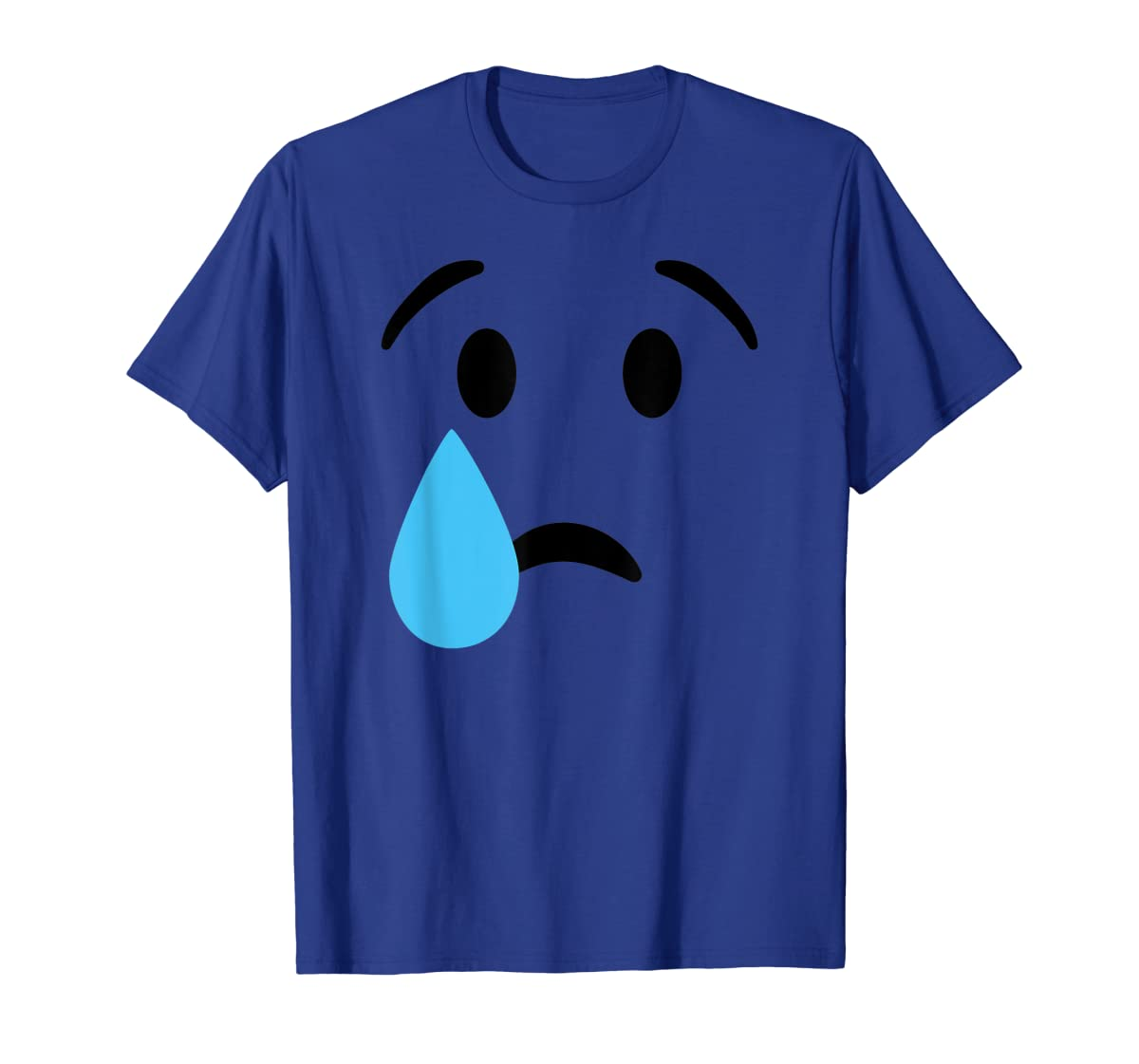 Sad Crying Tear Eyes Face Emojis Emoticon Halloween Costume T-Shirt-Men's T-Shirt-Royal