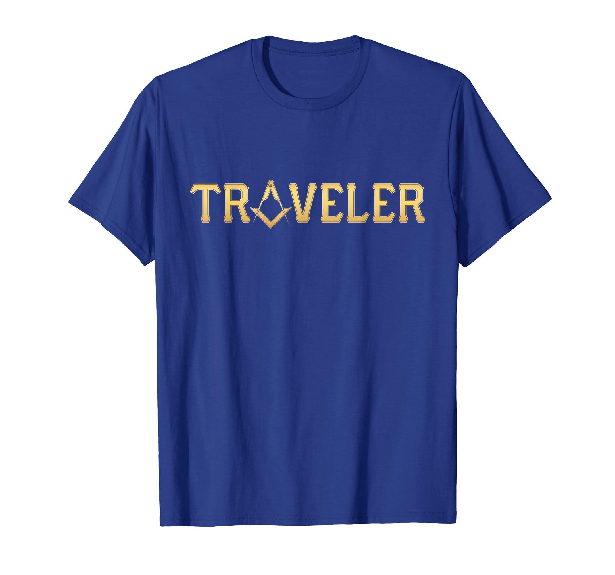 d43f2a31 Amazon.com: Mens Masonic Traveler Square and Compass - Freemason T-Shirt:  Clothing
