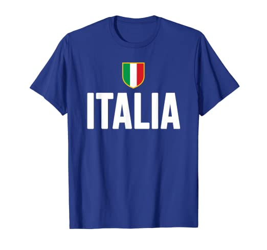 b01c75d5 Image Unavailable. Image not available for. Color: ITALIA T-Shirt Italian  Pride Italy Flag ...