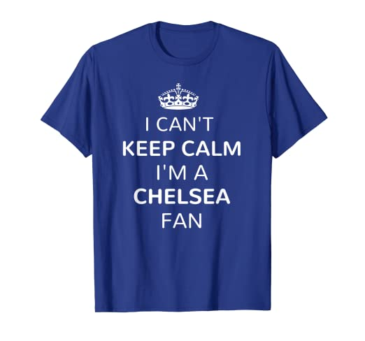 size 40 e331e 6eec1 Amazon.com: Chelsea Soccer Jersey Keep Calm London Blues Fan ...