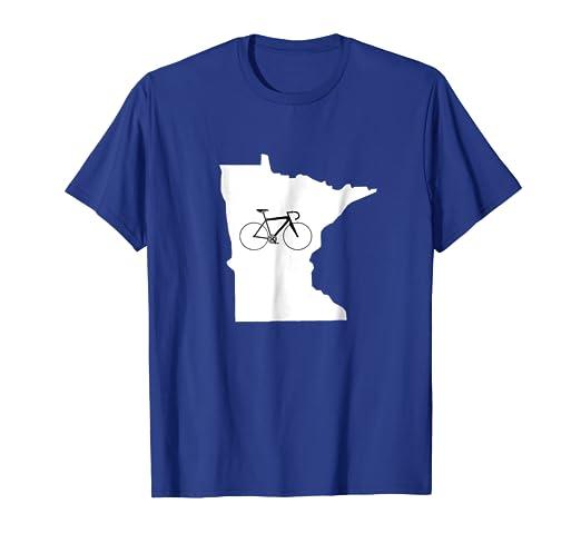 738c06576 Amazon.com: Bicycle Minnesota Shirt, Cyclist Tee, State Road Bike: Clothing