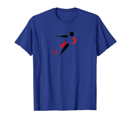 Distressed Minimal Soccer Player graphic running with ball