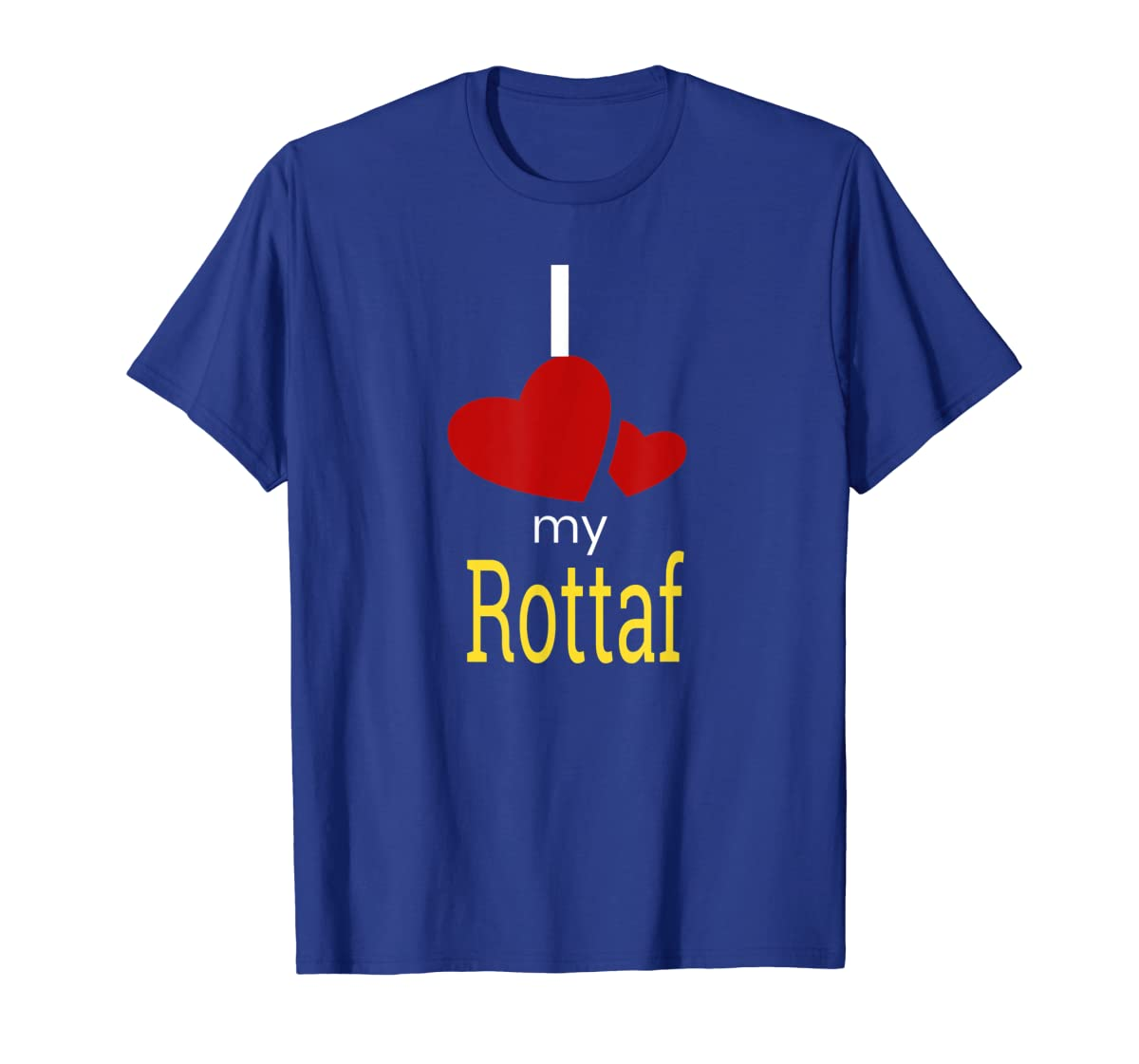 Rottaf Dog Shirt Love Rottweiler + Afghan Hound =  T-Shirt-Men's T-Shirt-Royal