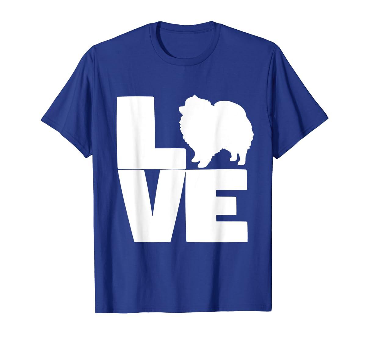 I Love Pomeranians Pom Mom or Dad Pet Lover T Shirt-Men's T-Shirt-Royal