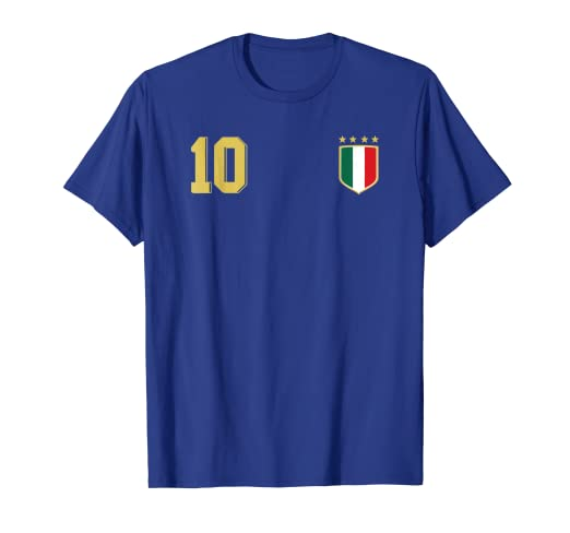 b73762874e7 Image Unavailable. Image not available for. Color  Retro Italy Soccer  Jersey Italia Football T-Shirt Calcio 10