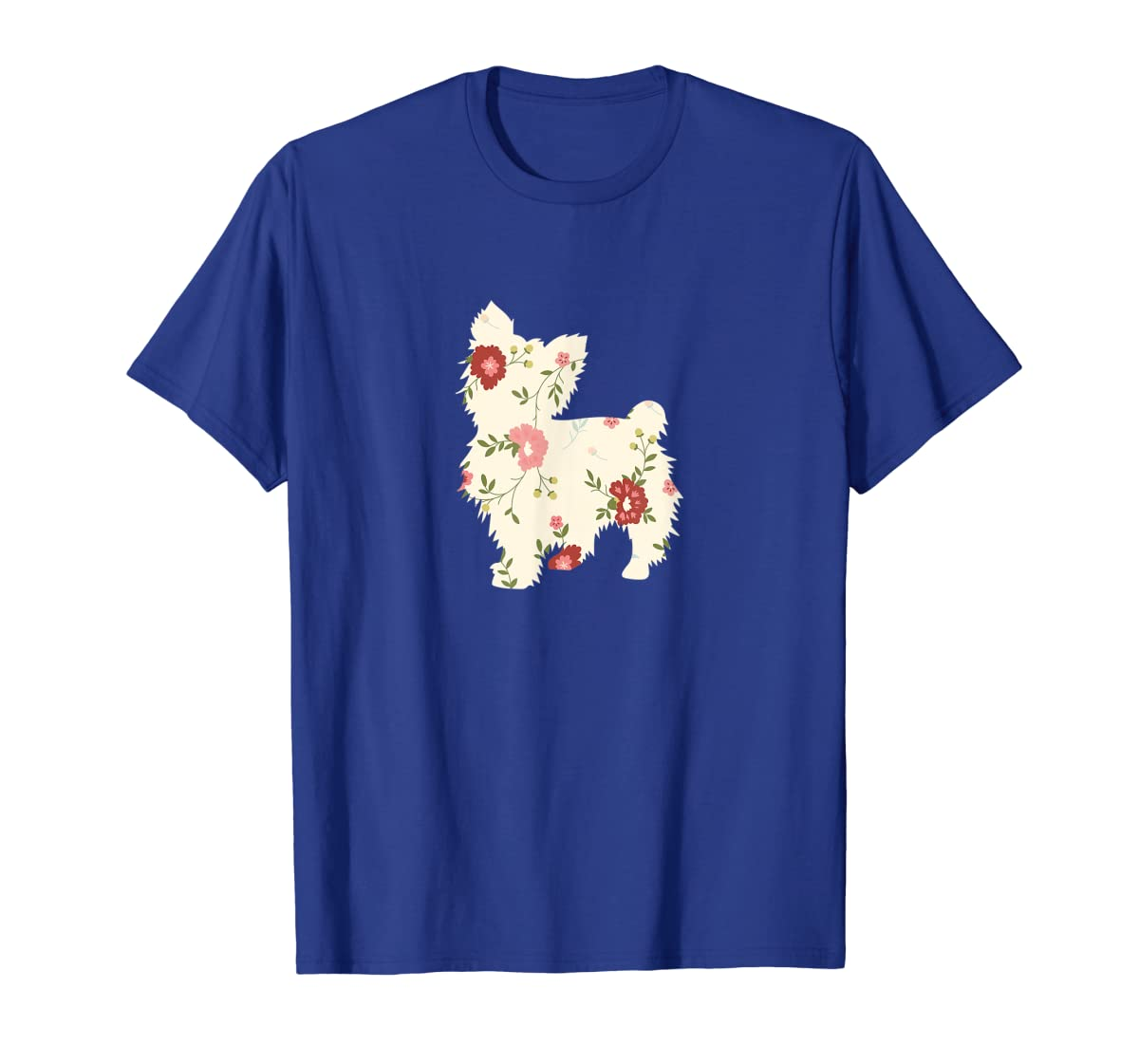 Yorkshire terrier Floral Vintage Dog Flower T-Shirt Gift Mom-Men's T-Shirt-Royal