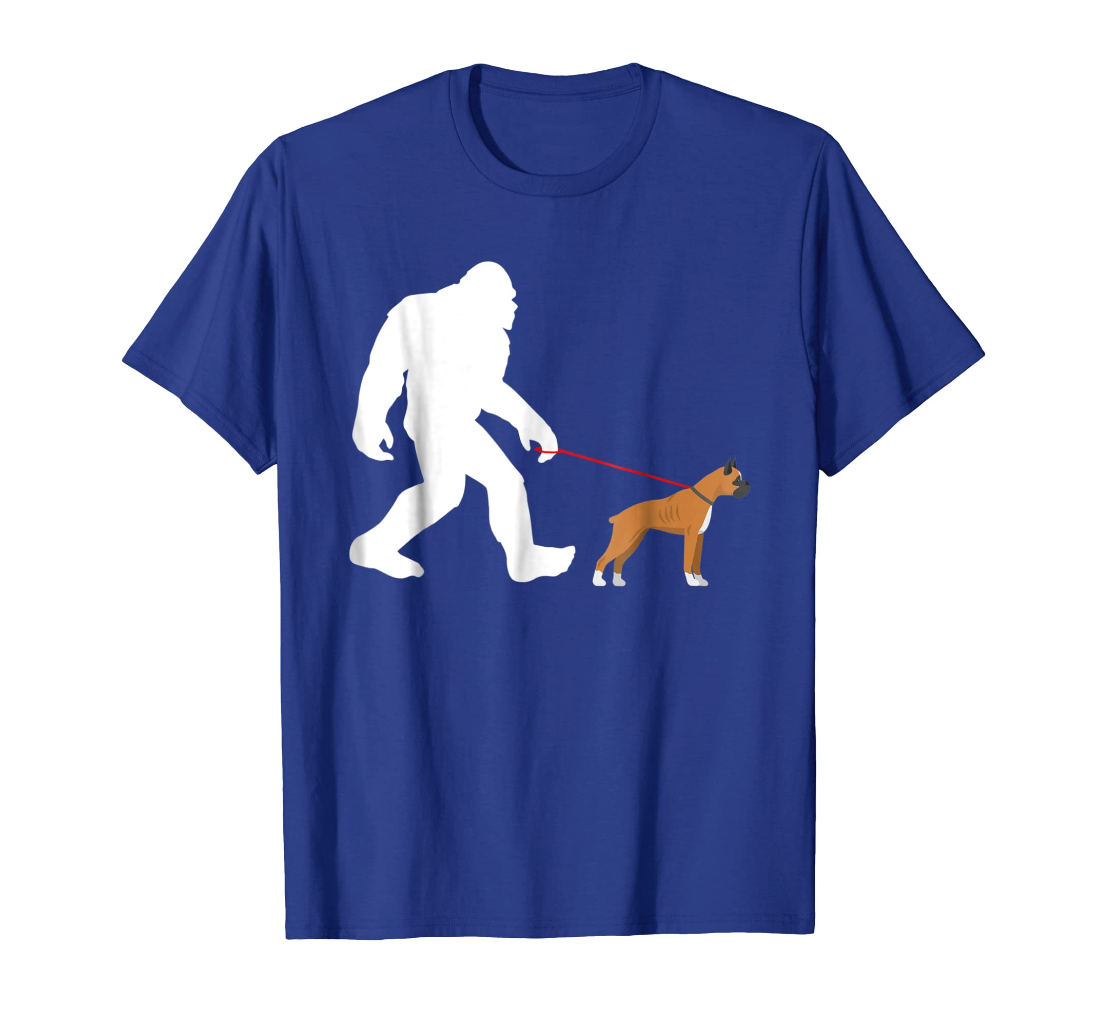 Amazon Com Bigfoot Walking Boxer Dog Tshirt Sasquatch With Boxer