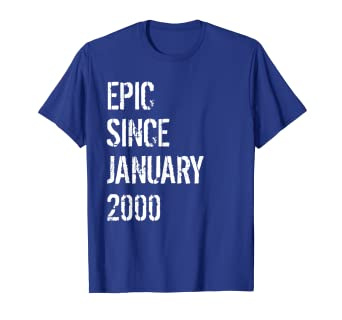 Image Unavailable Not Available For Color Born In January 2000 Birthday Gift T Shirt 19 Year Old