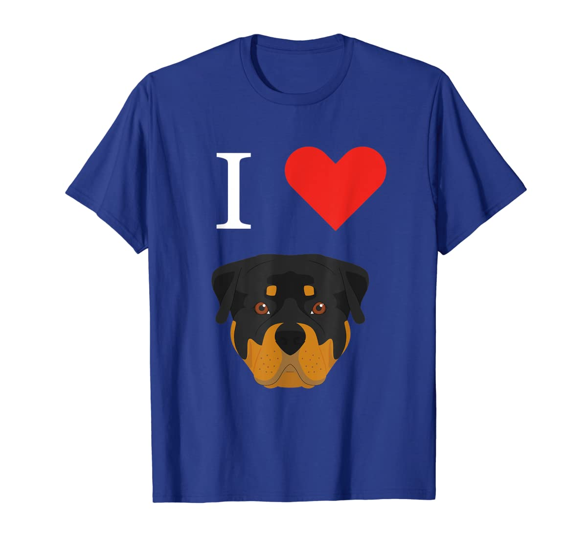 I Love My Rottweiler Dog T-Shirt-Men's T-Shirt-Royal