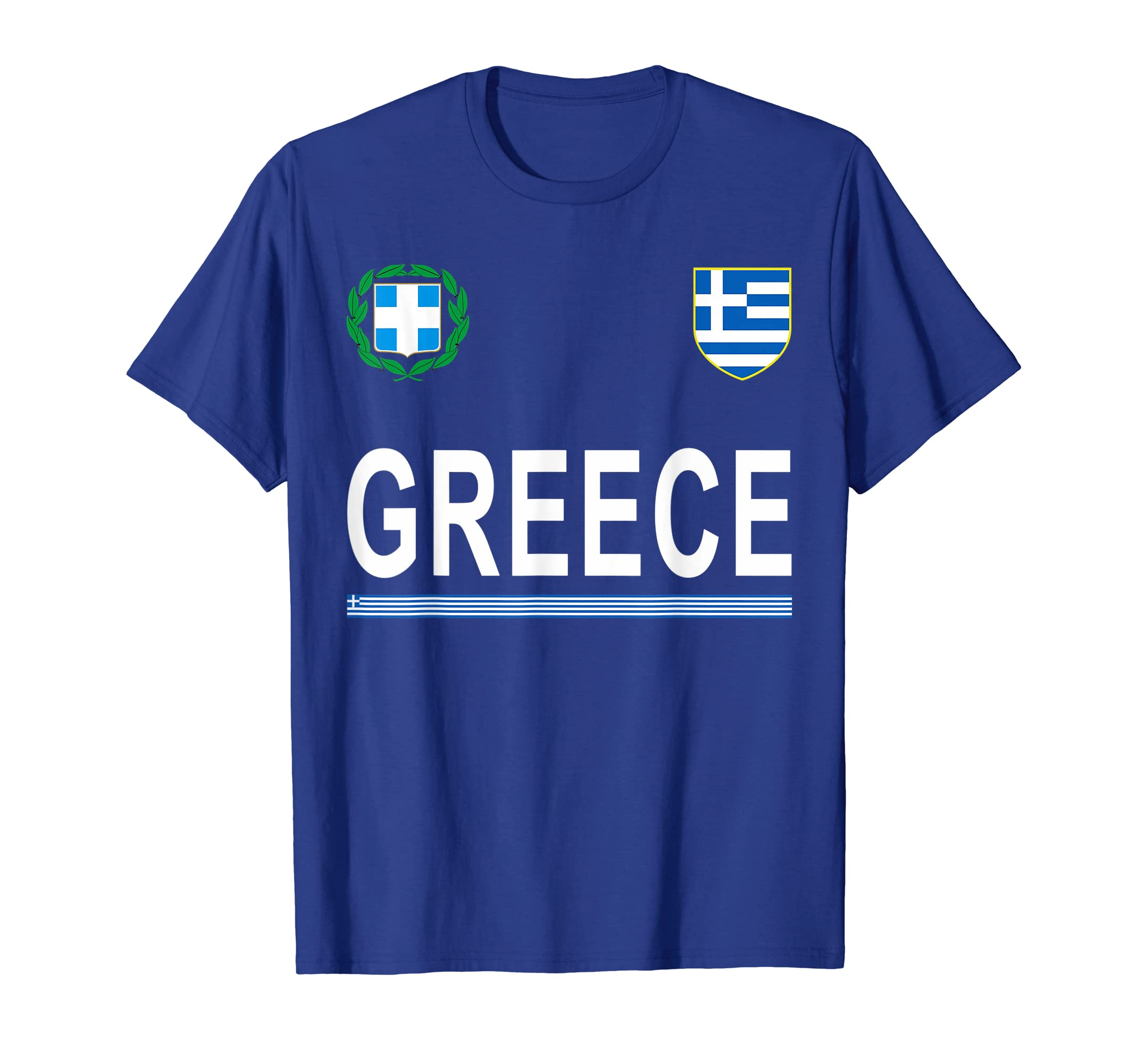 online store 2ad30 952fa Amazon.com: Greece Soccer National Team T-Shirt - Greek ...