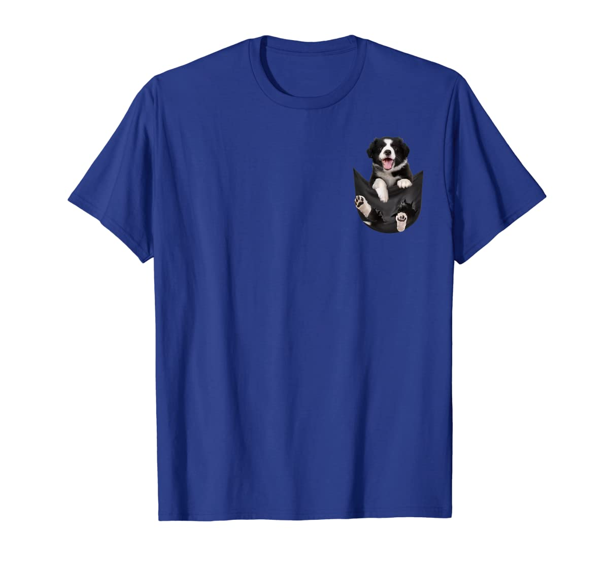 Gift dog funny cute shirt - Border Collie in pocket shirt T-Shirt-Men's T-Shirt-Royal