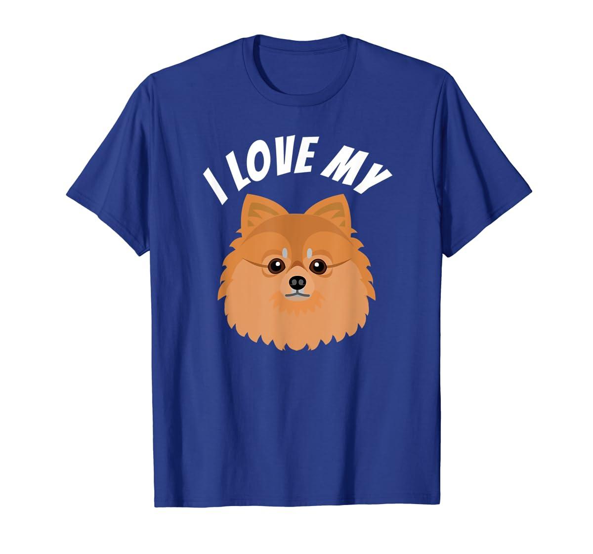 I Love My Pomeranian T-Shirt Dog Lover Tee-Men's T-Shirt-Royal