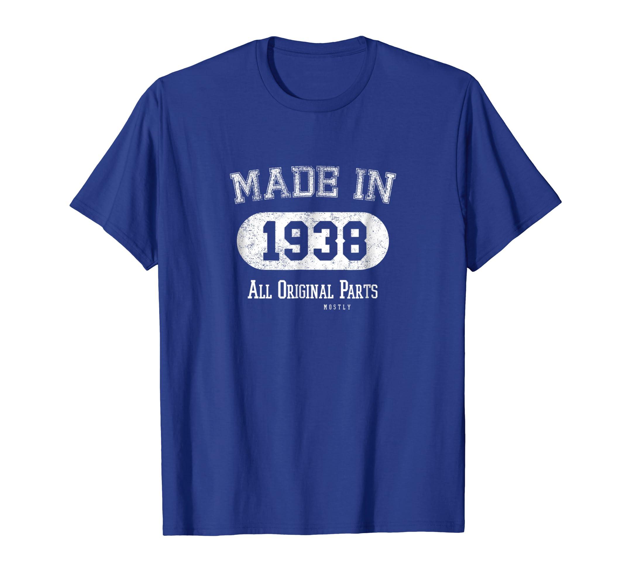 PeakTee Made in 1938 Retro Country Style 80th Birthday Shirt-Awarplus