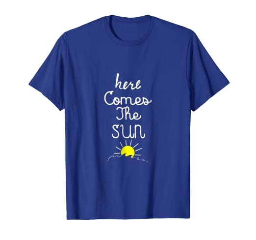 fd01004209e3 Amazon.com  Here Comes The Sun - Positive Energy Summer T Shirt ...