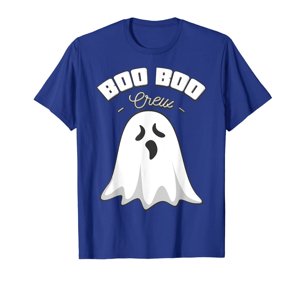 Boo Boo Crew Ghost Funny Halloween Black and Orange Night  T-Shirt-Men's T-Shirt-Royal