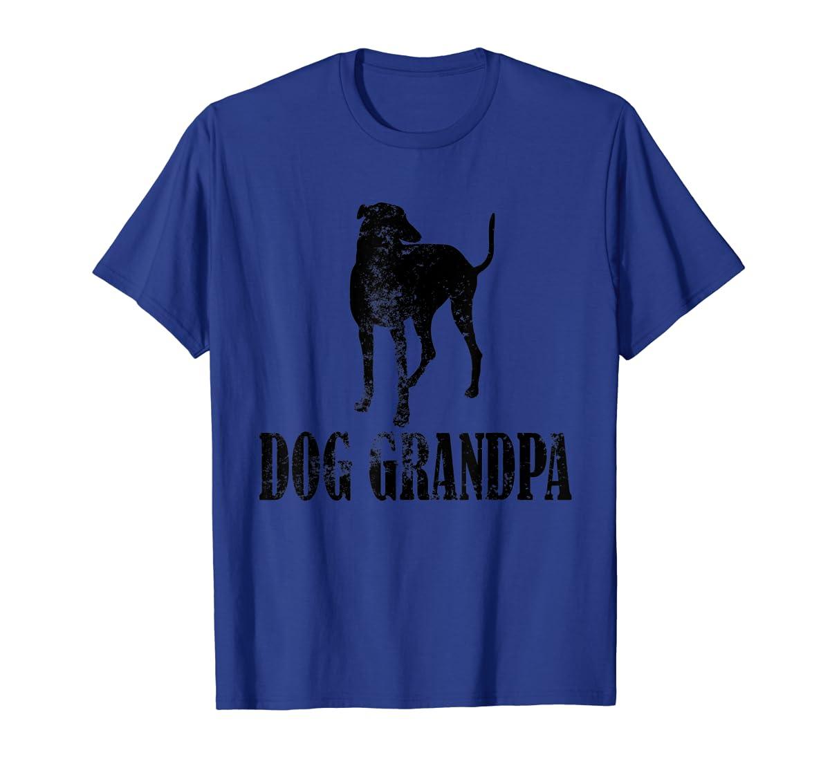 Father's Day T Shirt Greyhound Dog Grandpa T-Shirt Gifts-Men's T-Shirt-Royal