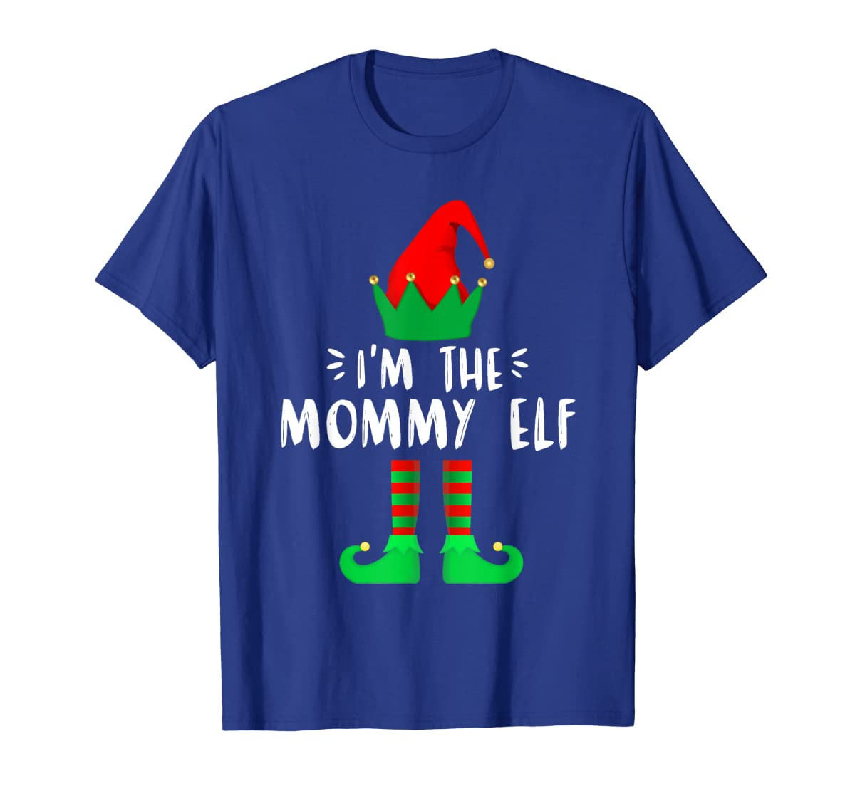 I'm the Mommy ELF matching family group Christmas T-Shirt-Men's T-Shirt-Royal