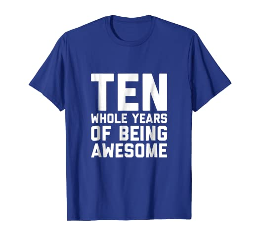 Image Unavailable Not Available For Color 10th Birthday Shirt Gift Age 10 Ten Year Old Boy