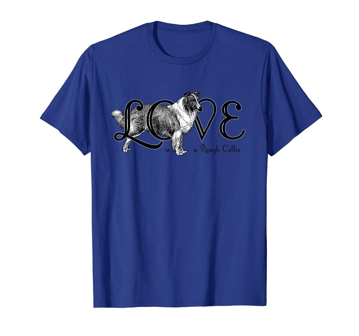 Love is a Rough Collie T-Shirt-Men's T-Shirt-Royal